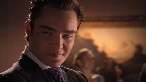 True or False Chuck is looking at Blair?