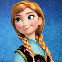 T/F: In the movie, Anna always wears her pink coat when she wears the blue dress.