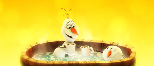 Which lyric does Olaf sing in this scene?