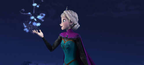 Throughout the entire movie, how many hairstyles did Elsa wear?
