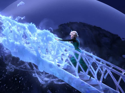 Where does Elsa build her ice palace?