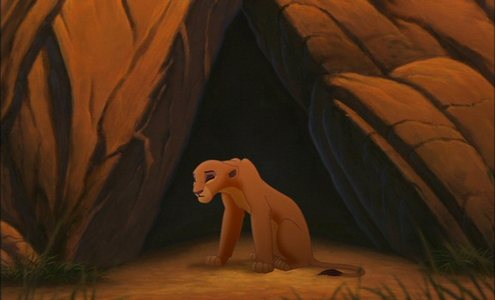 When Kiara went to find Kovu after Simba exiled him, why did she searched that cave?