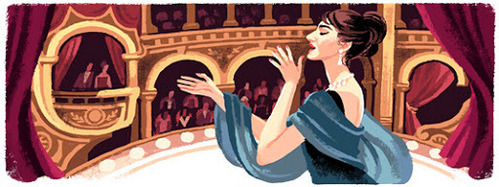 This picture celebrates Maria Callas' __th Birthday.