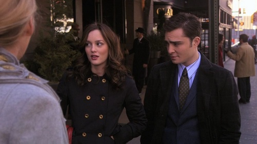 True or false: Blair and Chuck are a couple in this photo?