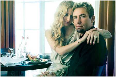 What is the date of the wedding Avril and Chad?