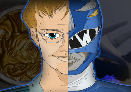 What is the morphing call Billy says when he morphs into the Blue Mighty Morphin Ranger.