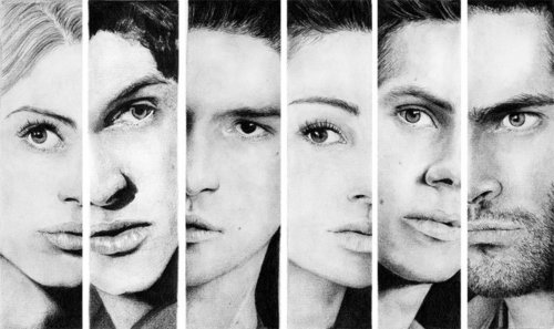 Who are these 6 people in this drawing.