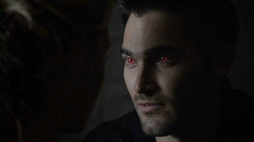 Who is Derek looking at in this scene.