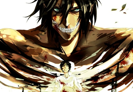 In which episode did eren turn into a titan for the last time in the anime?