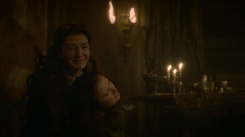 Show: Catelyn's last words to Robb before he died?