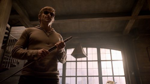 Where is Deucalion at in this scene.