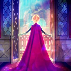 What is color of Elsa's shoes while wearing her Queen of Arendelle ensemble?