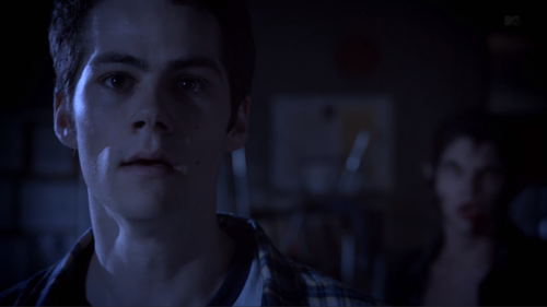 Who is behind Stiles in this scene.