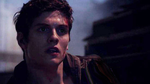 Who is Isaac looking at in this scene.