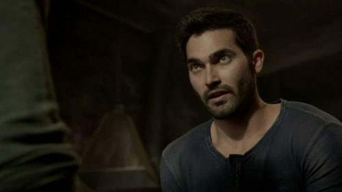 Who is Derek talking to in this scene.