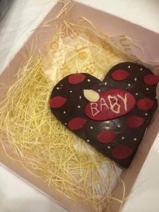Who made this chokoleti heart?