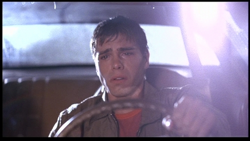 Why is Billy (Matthew) crying in his car?