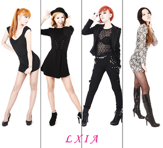 What was LXIA's debut song?