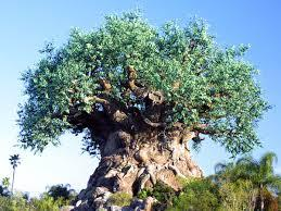 About how many animal carvings can be found on the Tree of Life?