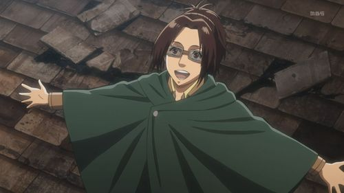 For the English dub of Attack On Titan, who provides Hange's voice?