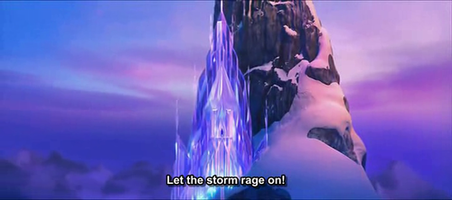 The scene in which Elsa walks out onto the balcony of her newly constructed ice palace is ___ frames long