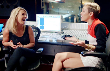 What is the name of the song Britney sang with Miley Cyrus?