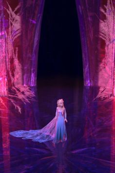 What does Elsa say to herself when she's alone in the ice palace