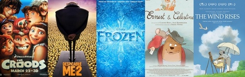 Was फ्रोज़न nominated for best animated feature in the 2014 Oscars?