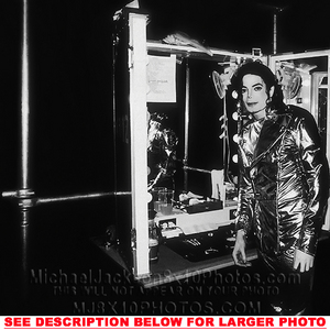 This photograph of Michael Jackson was taken backstage during the History tour in the mid-90's
