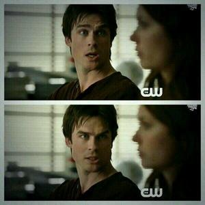 Which classroom are Damon & Elena sitting in, in this scene?