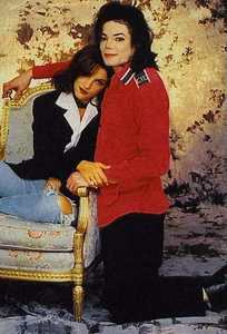 This is the official 1994 wedding portrait of Michael and Lisa Marie Presley
