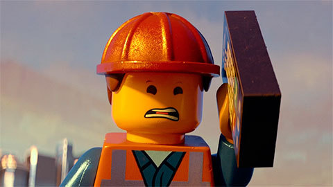 What is Emmet looking at in this picture?