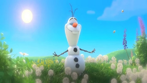 When Olaf first appeared alive, what was missing?