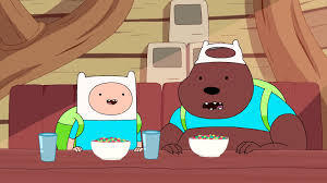 """in the episode """"in your footsteps"""" what does the bear gonna do if finn is talking about the bear or when his doing something?"""
