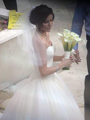 Who made Sophia's wedding dress when she had married Chad Michael Murray?