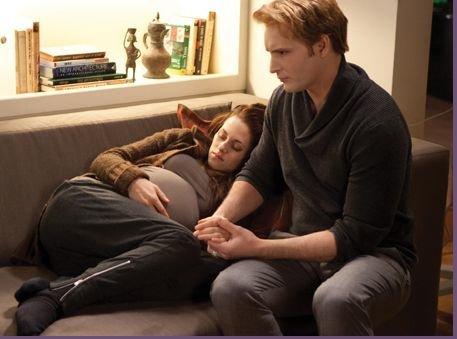 In Breaking Dawn (Book) when does Edward change Bella?