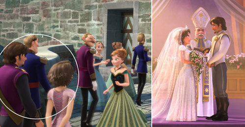 If the theory of Tangled and Frozen is true, how old is Rapunzel when she attended Elsa's coronation?