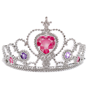How many princesses (including Anna and Elsa) are seen wearing a crown au tiara in their original movie?
