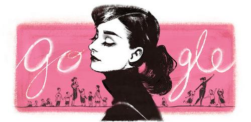 This picture celebrates Audrey Hepburn's _____ birth anniversary.