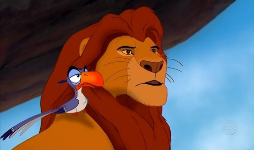"How does Zazu respond to Mufasa after asking ""What am I going to do with him?"" (scar)"
