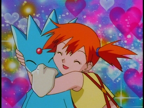 What gender was the wild Golduck Misty used in a battle with Marina?
