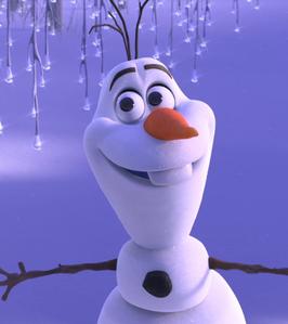 True or False: Anna kicked Olaf's head when she first saw him.