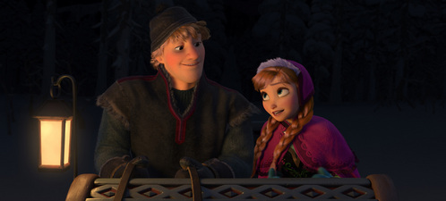 True or False: Anna didn't replace the sled for Kristoff.