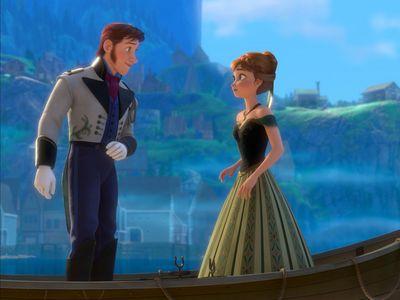 True hoặc False: Hans saved Anna and Arendelle.