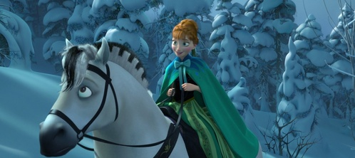 True atau False: Anna's horse ran away back to Arendelle when she was looking for Elsa.