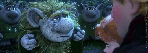 True or False: Pabbie (The Grandpa Troll) saved Anna again when Elsa frozen her heart.