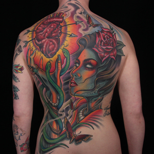 This back piece of Ink Master's season 4 finale was made by whom?