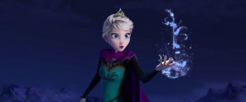 During Let It Go, what is Elsa hát while she is building Olaf?