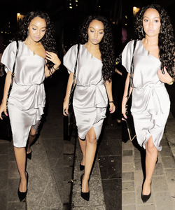 Leigh-Anne is returning from where and when in this picture?