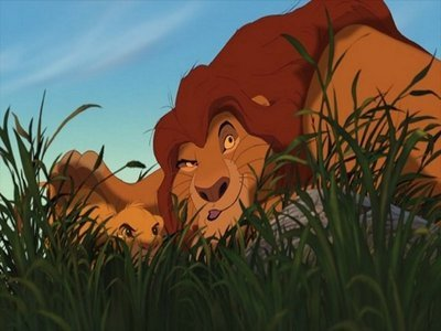 What Mufasa referring himself in this pic ?